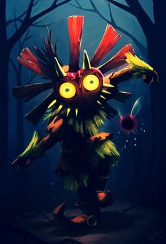 Skull Kid with Majora's Mask and Tael is pure awesomeness!