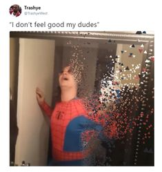 I don't even watch marvel or whatever but I understand this :'-( Marvel Jokes, Marvel Funny, Marvel Dc, Marvel Heroes, Haha Funny, Hilarious, Funny Stuff, Marvel Universe, Dankest Memes