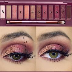 Eye makeup is able to complement your natural beauty and also help to make you look and feel fabulous. Discover how to begin using make-up so that you can easily show off your eyes and stand out. Uncover the top tips for applying make-up to your eyes. Urban Decay Makeup, Urban Decay Eyeshadow, Eyeshadow Looks, Eyeshadow Makeup, Sparkly Eyeshadow, Makeup Dupes, Makeup Brushes, Makeup Inspo, Makeup Inspiration