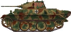 """The Panzer II Ausf L or """"Luchs"""" (Lynx), the most famous reconnaissance tank of the Wehrmacht and ultimate version of the Panzer II. Its main features, new hull, new drivetrain and engine, new tracks and interleaved wheels, new suspensions, better armor, radio and internal equipments, made this model really well suited for the task."""