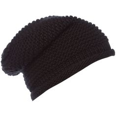 Label Lab Chunky knit boyfriend beanie (18 CAD) ❤ liked on Polyvore featuring accessories, hats, beanies, gorros, hair accessories, black, hats & hair accessories, chunky knit hat, oversized beanie and black beanie hat