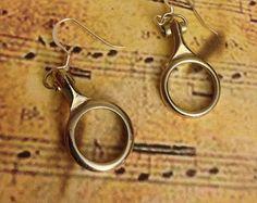 Clarinet Earrings, Instrument Earrings, Instrument Jewelry, Clarinet Jewelry, Music Jewelry, Music Earrings, Clarinet Key