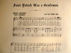 Your place to buy and sell all things handmade Antique Prints, Vintage Prints, Vintage Art, Old Irish, Old Song, King James Bible, Old Music, Old Frames, Saint Patrick
