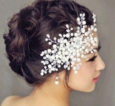 2015 New arrival bridal tiara women wedding jewelry pearl rhinestone pave crown bridal jewelry fashion hair accessories