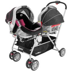 @Joovy came out with a twin stroller frame that lets you place the seats side by side. How awesome. Check out our writer's review! Http://www.themamamaven.com or click through to her post!