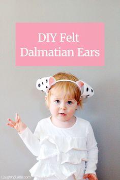 diy felt dalmatian ears