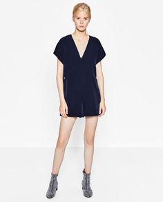 Image 1 of SHORT V-NECK JUMPSUIT from Zara