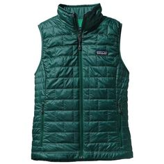 Patagonia Women's Nano Puff Vest ($119) ❤ liked on Polyvore featuring outerwear, vests, arbor green, green vest, green puffer vest, lightweight vest, vest waistcoat and patagonia vest