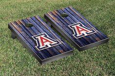 Arizona Wildcats Weathered Wood w/ Logo Cornhole Board & Bag Set