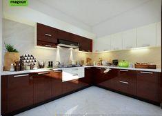 Innovative Ways Particular Kitchen Bangalore 00004 - decorurge Best Kitchen Layout, Kitchen Design Open, Kitchen Cabinet Design, Interior Design Kitchen, Kitchen Storage, Kitchen Ideas, Kitchen Designs Photos, Modern Kitchen Interiors, Living Room Sofa Design