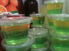 Green Bay Packers Jello Shots for the Super Bowl « Julie and Jell-O
