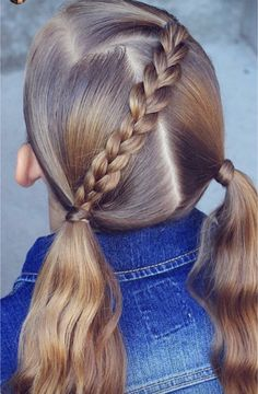 Trenza Hairstyle In 2019 Hair Styles Baby Girl Hairstyles Girl - hairstyles trenzas easy hairstyles trenzas recogido Super Cute Hairstyles, Easy Little Girl Hairstyles, Girls School Hairstyles, Baby Girl Hairstyles, Toddler Hairstyles, Boho Hairstyles, Wedding Hairstyles, Female Hairstyles, Hairstyles 2016