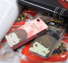 Smile Doll Silica Gel Back Case for Iphone4 4s - Apple Accessories - Funny Gadgets Free shipping