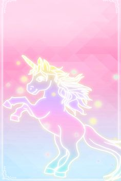 unicorn pink fades to blue wallpaper iphone background cutesy design
