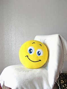 Smile Smiley Smiley face emoticon smile sign by PillowsRollanda, $25.00