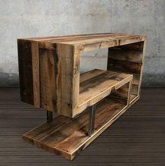 Consola de madera reciclada por AtlasWoodCo en Etsy