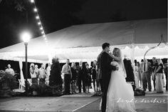 black and white with lots of twinkling lights!