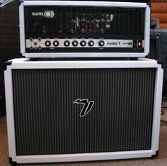 Everything old is new again: A vintage Sunn Model T in new Tolex to match a Voltage Amps cab
