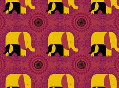 """""""Indian Elephants"""" by colormusing CLAD, India, Indian, artist, artists, baby elephant, black, brown, burgundy, challenge"""