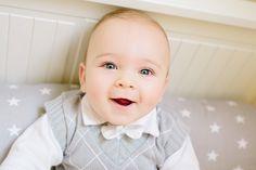 Chrzest Szymona | Szymon's Baptism. babyboy 6months. Blue eyes and smile.