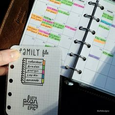 A peek into my wallet #filofax pocket Malden. I keep family appts times in here…