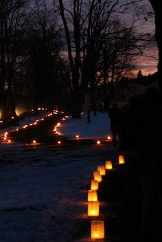 candle light trail