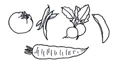 easy vegetables drawing draw very drawings line beginners step coloring instructions