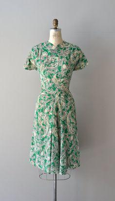 Leitmotif dress / rayon 40s dress / vintage 1940s by DearGolden
