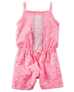 Baby Girl Floral Embroidered Romper | Carters.com