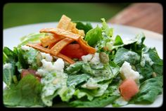 Shef Shanan: MEXICAN CEASAR SALAD WITH CILANTRO TOMATILLO DRESSING