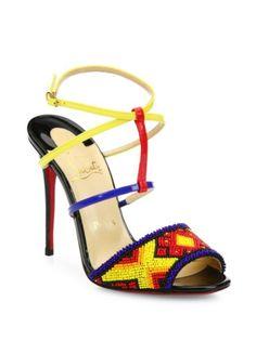 Christian Louboutin - Tipika Beaded Leather Sandals