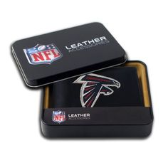 NFL Embroidered Billfold Wallet - Atlanta Falcons  http://allstarsportsfan.com/product/nfl-embroidered-billfold-wallet/?attribute_pa_teamname=atlanta-falcons  Genuine leather billfold embroidered with team logo Genuine cowhide black leather Slots for Your Credit Cards and ID