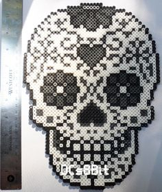 Sugar Skull Perler by DCs8Bit on Etsy https://www.etsy.com/listing/240088079/sugar-skull-perler