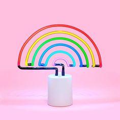 rainbow neon light - large