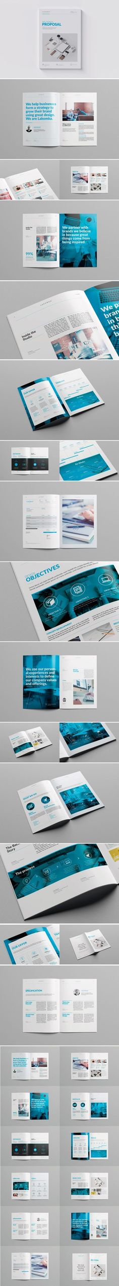 24 Pages Business Project Proposal Template Indesign Indd