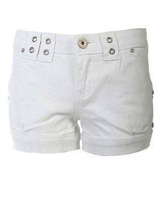 Ladies Plain Hem Embroidered Detail Back Denim Shorts White Womens Hotpants 8 14 White Shorts, Denim Shorts, Detail, Lady, Wedding, Women, Fashion, Jean Shorts, Mariage