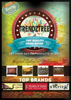 Introducing Trendztree.com . Now shop in bulk online for Home Decors. We offer authentic Indian hand-loom products like cushion covers, gift items, jewellery etc. Get a feel of the Royal Indian Handicrafts to your door step. Visit our website and get mesmerized with our exquisite collection (trendztree.com/)