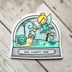 https://flic.kr/p/EscvsL | Oh Happy Fae | Made with Fairy Friends, Gleeful Gardens, ready set shake and ready set snow stamp sets from Lawn Fawn. And the Ready Set Snow add on dies. Caribbean Dream sequins from Lucys-Cards.com