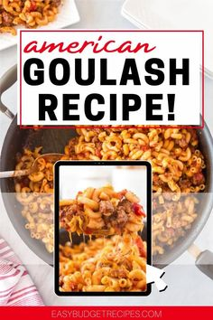Our American Goulash recipe serves eight and costs $13.34 to make. That's just $1.67 per serving! Follow Easy Budget Recipes for more quick and easy recipes! Budget Dinners, Easy Budget, Dinner On A Budget, Budget Recipes, Easy Holiday Recipes, Best Dinner Recipes, Easy Recipes, Grilling Recipes, Slow Cooker Recipes