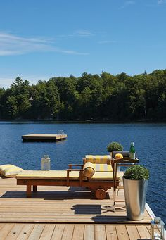 Build Your Own Beach Deck For Outdoor 18 Lake Cottage, Cottage Living, Lakeside Living, Outdoor Living, Lake Dock, Visualisation, Lake Cabins, Up House, Deck Design