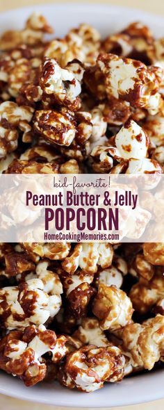 If you love PB&J sandwiches, this is the popcorn for you! This Peanut Butter & Jelly Popcorn recipe is a fun snack for your next family movie night or as an after-school treat!