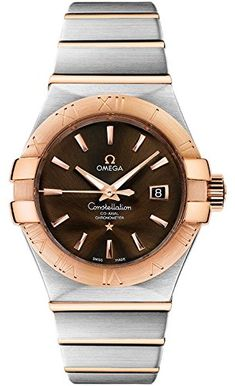 Omega Constellation Brown Dial Co-axial Automatic Winding Back Cover Skeleton 123.20.31.20.13.001 Ladies Watches -- Find out more details by clicking the image (This is an amazon affiliate link. I may earn commission from it)