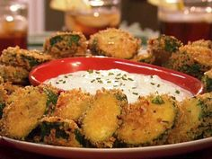 Fried zucchini. I have always wanted to try making fried zucchini- I even have a deep fryer, and now I have my recipe to make me do it! #zucchini