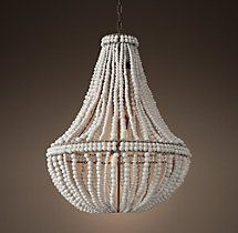 Clay Bead Empire Chandelier 24""
