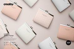 Leather Wallet Purse Mockup Set by Creatsy on @creativemarket