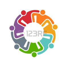 People Group Commitment Logo. Graphic design illustration