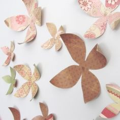 Download and print your own paper wallflowers from Billie Monster: Printables and you'll be happy too.