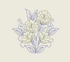 "Free embroidery design ""Wild flower"""