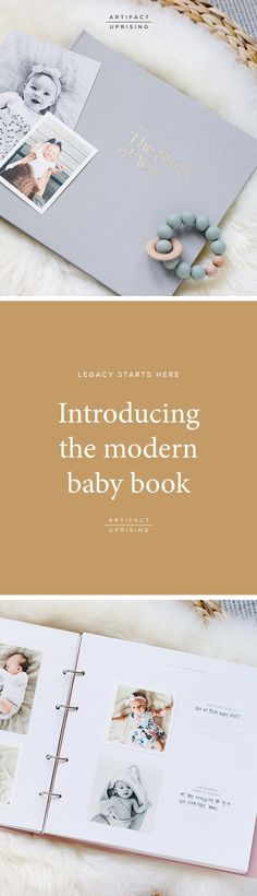 The Story of You. Introducing the modern baby book from @artifactuprsng. An interactive photo journal for baby's first year and beyond, the Story of You encouarges parents to create new and meaningful habits.