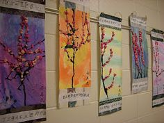 Teaching Speak and creating trees...a little arts and crafts time never hurt anyone!
